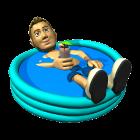Chalet à louer avec piscine extérieure