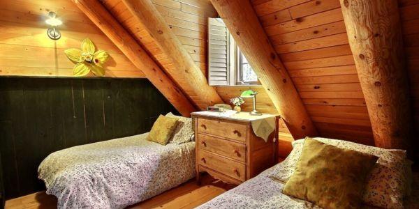 Chambre avec deux lits simples - Chalet Refuge