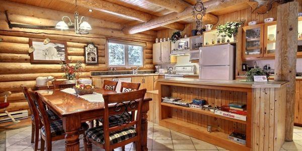 Salle à manger et cuisine - Chalet Ours Blanc