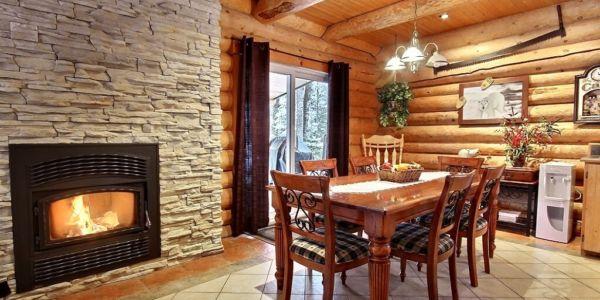 Foyer en pierre - Chalet Ours Blanc