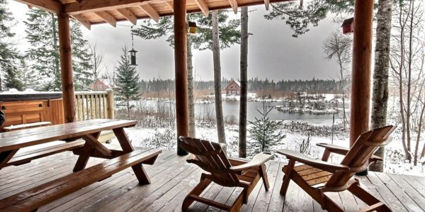 Terrasse couverte - Chalet Nordet