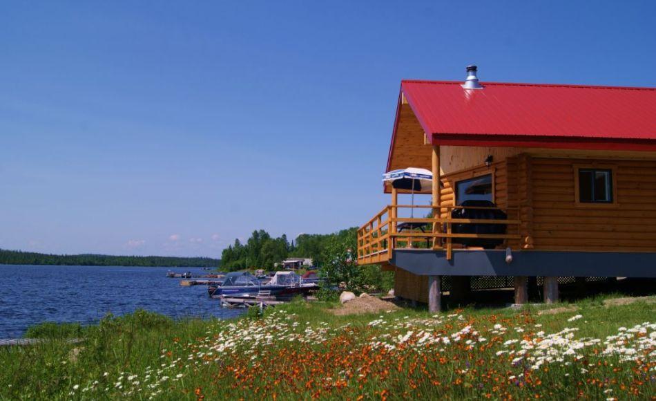 Chalet à louer en bois rond Abitibi-Témiscamingue