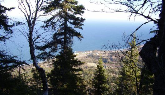 Vue à partir du sentier Pic Castor au Parc côtier