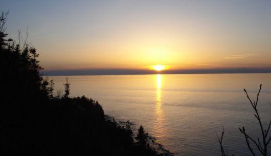Un des superbes couchers de soleil que vous pouvez voir!