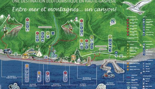 Dépliant de nos sentiers pédestres au Parc côtier du Ruisseau-Castor accessibles directement par la plage!