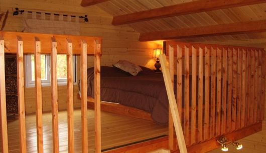 Chambre du # 2, sur la mezzanine (hauteur max. 6')