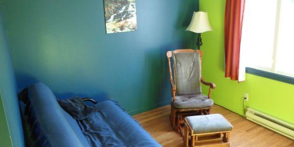 Salon du chalet # 1, avec divan-lit (futon)