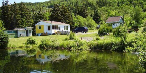 Alentour du chalet #1 et un de ses étangs à truites