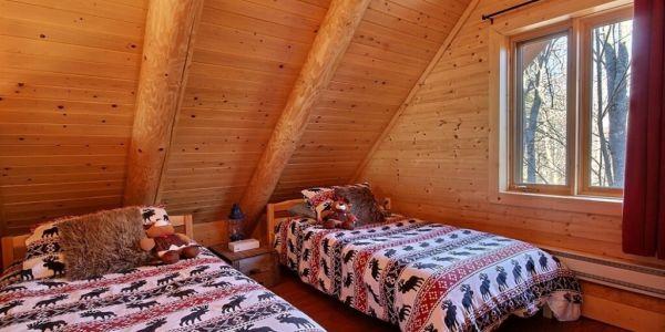 Chambre avec deux lits simples - Chalet Godendard