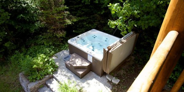 Spa privé - Chalet Loutre