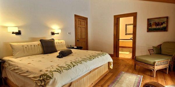 Chambre avec lit King - Chalet Bernache