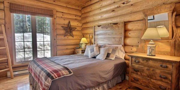 Chambre avec lit Queen - Chalet Wapitik