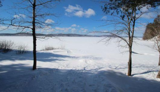 Lac Simon en hiver