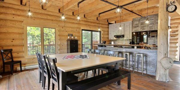 Cuisine et salle à manger - Chalet Calumet