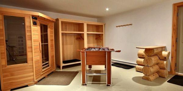 Sauna au sous-sol - Chalet Castor