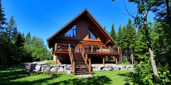 Chalet à louer en bois rond Région-de-Québec