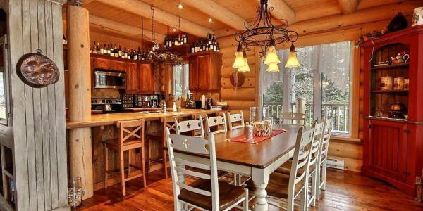 Cuisine et salle à manger - Chalet Bercail