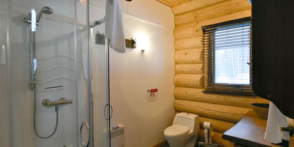 Salle de bain avec douche - Chalet le Pinecone