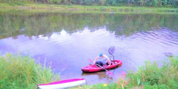 Kayaks, chaloupe et ceinture de sauvetage gratuit