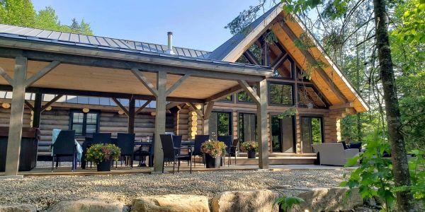 Chalet à louer en bois rond Lanaudière