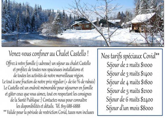 Voir plus de photos et informations pour Chalet à louer Laurentides
