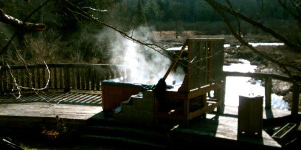 Chalet à louer en bois rond Cantons-de-l'Est / Estrie